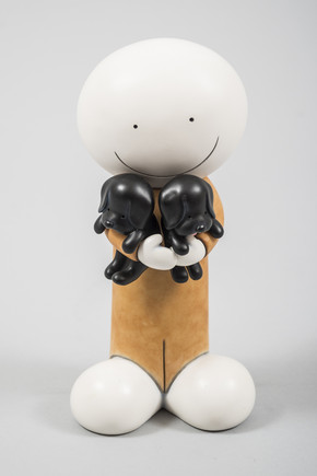 Puppy Love (Sculpture) by Doug Hyde