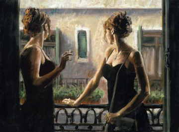 Balcony at Buenos Aires IV on Canvas