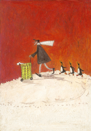 Over the Hill with Penguins Three by Sam Toft